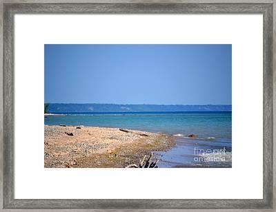 Beach Views Framed Print by Dyana Rzentkowski