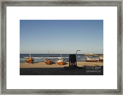 Beached Fishing Boats Framed Print by Roberto Westbrook