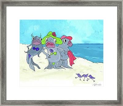 Beached Ladies Framed Print by Lizi Beard-Ward