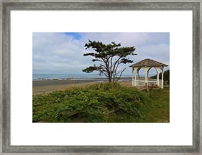 Beachside Gazebo Framed Print by Heidi Smith