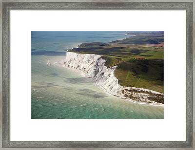 Beachy Head At High Tide Framed Print by Christopher Hope-Fitch