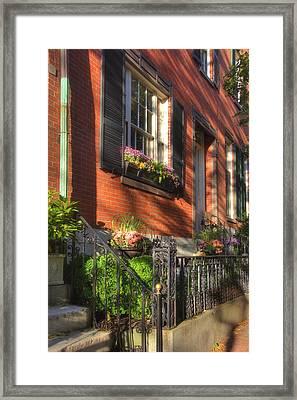 Beacon Hill Sidewalks Framed Print by Joann Vitali
