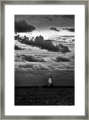 Beacon In The Clouds Framed Print