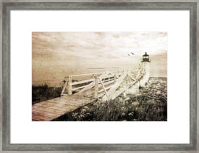 Beacon Of Hope Framed Print by Darren Fisher