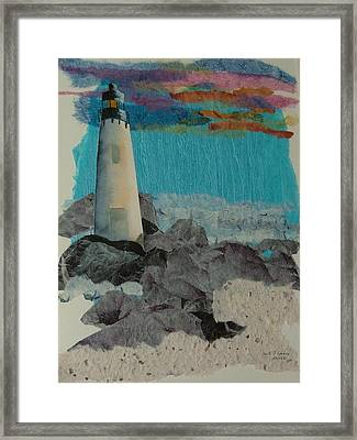 Beacon On The Rocks Framed Print