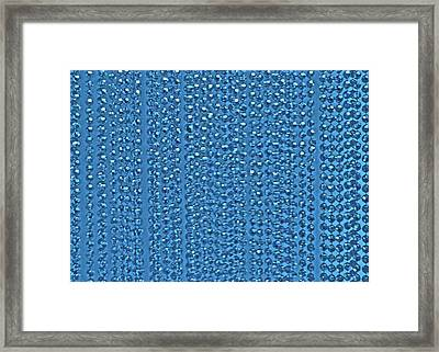 Beaded Blue Framed Print by James Mancini Heath