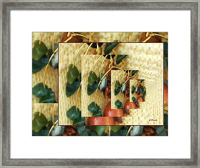 Beads On Ivory Knit Framed Print by Gretchen Wrede
