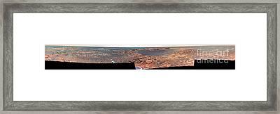 Beagle Crater, Mars Framed Print