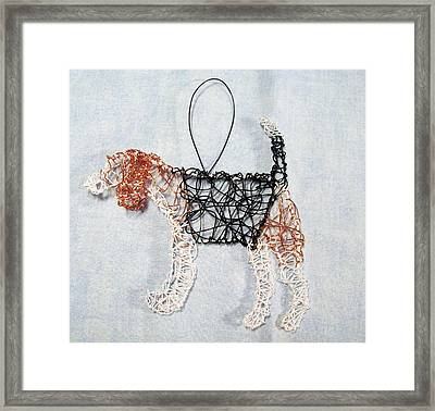 Beagle Ornament Framed Print by Charlene White