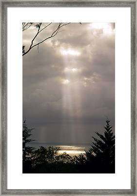 Beams Framed Print by Elisabeth Dubois