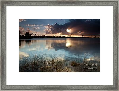 Beams Of Light Framed Print by Keith Kapple