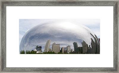 Bean Skyline Framed Print