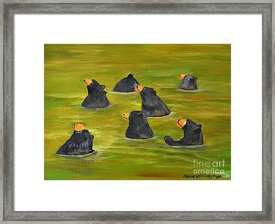 Bear Bath  Framed Print by Maria Williams