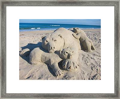 Bear Bear Family Framed Print