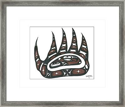 Bear Claw Brown Framed Print by Speakthunder Berry