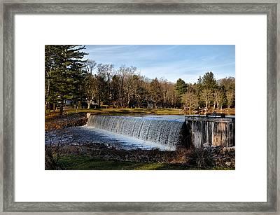 Bear Creek Lake Waterfall Framed Print