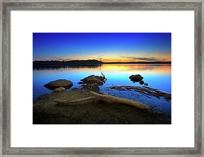 Bear Creek Sunset Framed Print by Steven Llorca