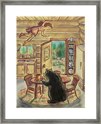 Bear In The Kitchen - Dream Series 7 Framed Print by Dawn Senior-Trask