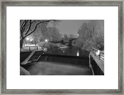 Bear River After Fresh Snow Framed Print