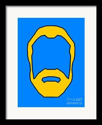 Beard Digital Art Framed Prints