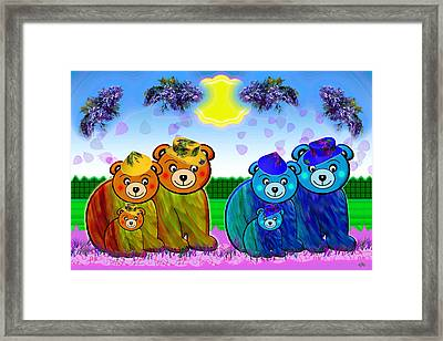 Bears Framed Print by Victoria Regueira