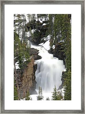 Beartooth Falls In The Shoshone Framed Print by Drew Rush