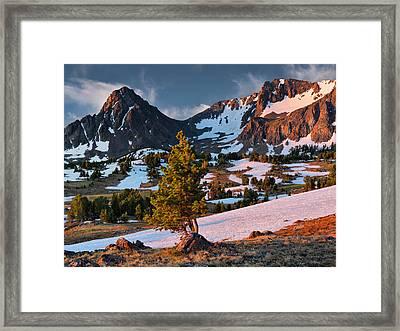 Beartooth Sunrise Light Framed Print by Leland D Howard