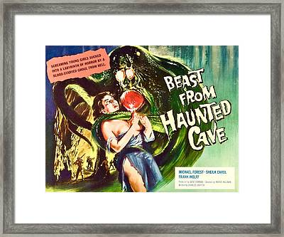 Beast From Haunted Cave, Sheila Carol Framed Print