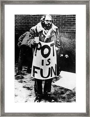 Beat Poet Allen Ginsberg, Ca.1960s Framed Print