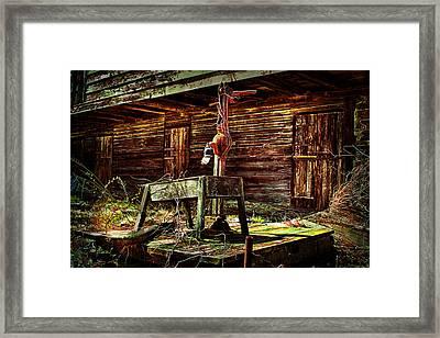 Beaten Down Barn Building Framed Print