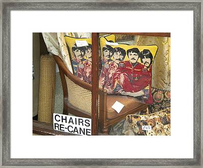 Beatles Pillow Framed Print