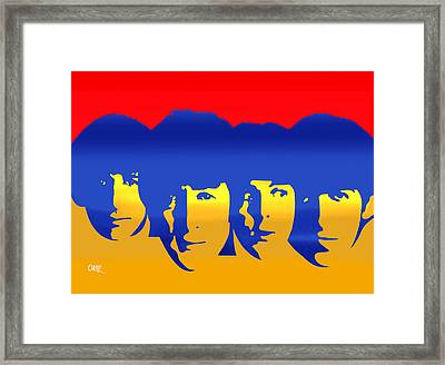 Beatles Pop Framed Print by Carvil