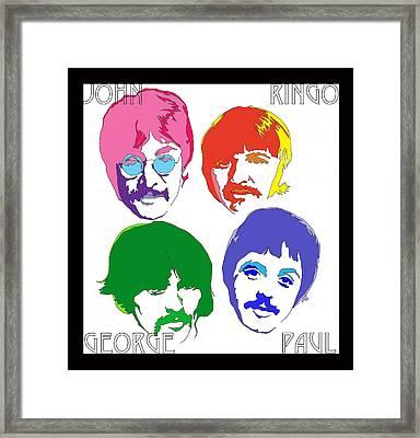 Beatles Framed Print by Samuel Veta