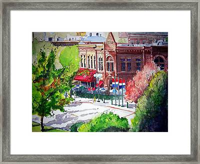 Framed Print featuring the painting Beau Jo's by Tom Riggs