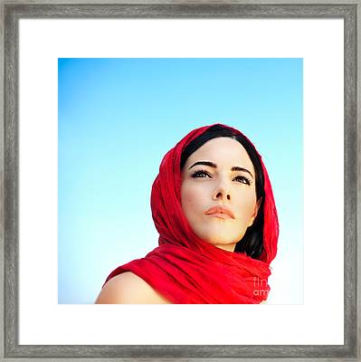 Beautiful Arabic Woman Framed Print by Anna Om