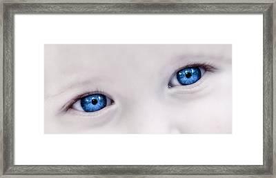 Beautiful Baby Blue Eyes Framed Print