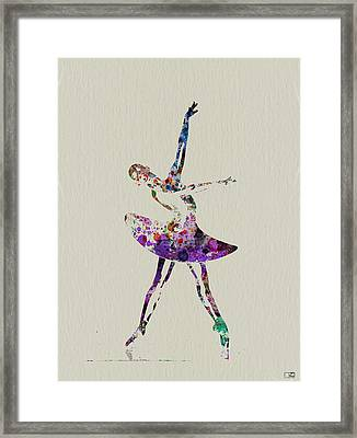 Beautiful Ballerina Framed Print by Naxart Studio