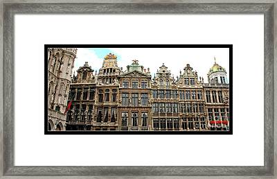 Beautiful Belgian Buildings - Digital Art Framed Print by Carol Groenen