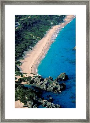Beautiful Bermuda Beach Framed Print by Carl Purcell