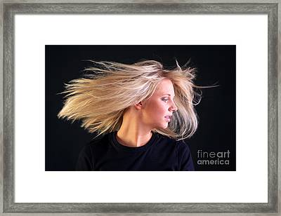 Beautiful Blonde Hair Framed Print