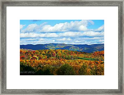 Beautiful Blue Ridge Mountains Framed Print