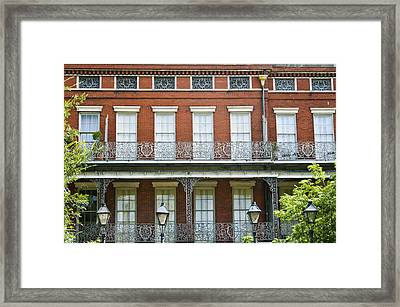 Beautiful Brick Building Framed Print by Ray Laskowitz