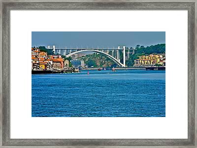 Beautiful Bridge In Porto Framed Print by Kirsten Giving