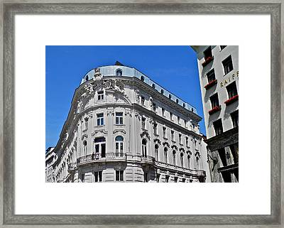 Beautiful Classic Viennese Building Framed Print by Kirsten Giving