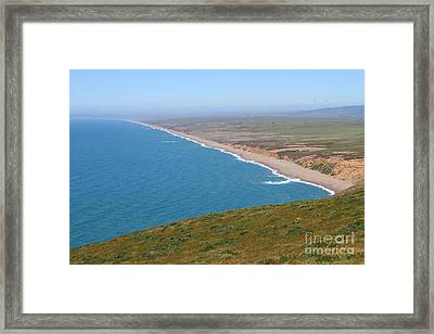 Beautiful Coastline Of Point Reyes California . 7d16028 Framed Print