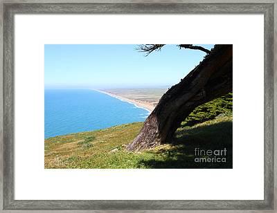 Beautiful Coastline Of Point Reyes California . 7d16033 Framed Print