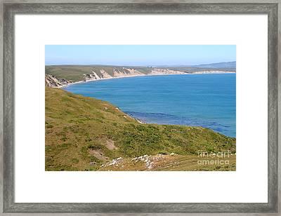 Beautiful Coastline Of Point Reyes California . 7d16050 Framed Print
