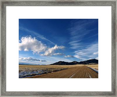 Framed Print featuring the photograph Beautiful Day by Clarice  Lakota
