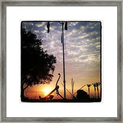 Beautiful Evening At The Yacht Club Framed Print