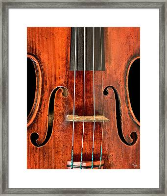 Beautiful F Holes Framed Print by Endre Balogh